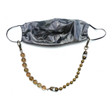 Sea Change Bead Mask Chain Necklace- Sandstone
