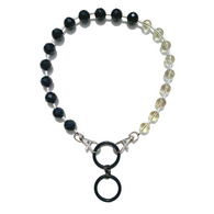 Sea Change Bead Mask Chain Necklace- Yin Yang