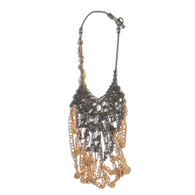 Sea Change Bronze Crochet Seaweed Necklace
