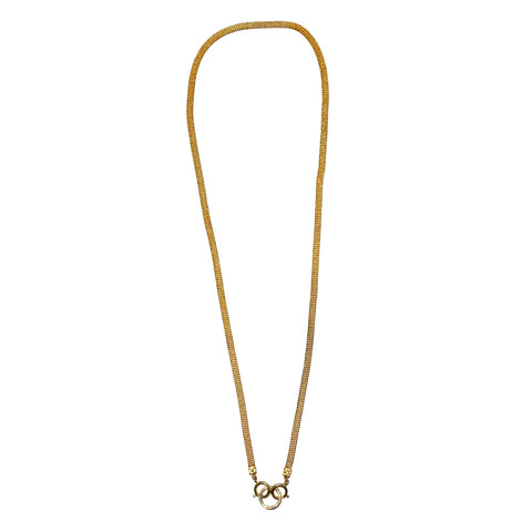 Sea Change Chain Mask Holder Necklace- Flat Gold