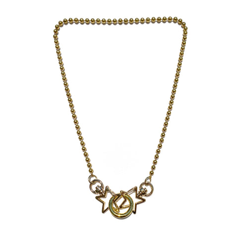 Sea Change Chain Mask Holder Necklace- Gold Stars