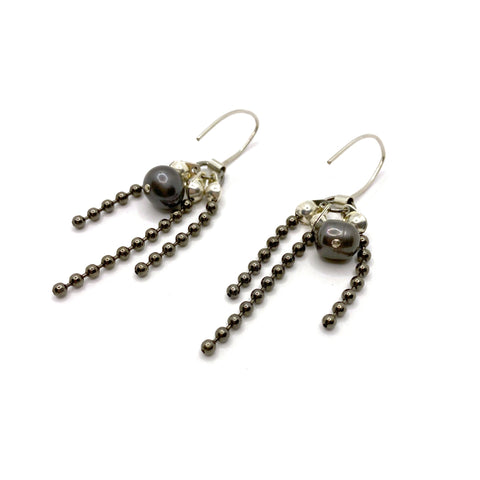 Sea Change Pearl Titan Earrings