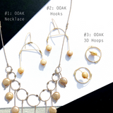 Golden Pearl Button Set