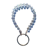 Sea Change Bead Mask Chain Necklace- Iridescent Clarity