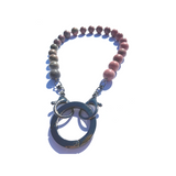 Sea Change Bead Mask Chain Necklace- Blush
