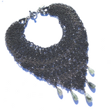 Sea Change Choker Hanky Necklace in Black/Gunmetal