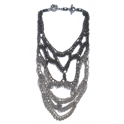 Sea Change Crochet Trellis Necklace