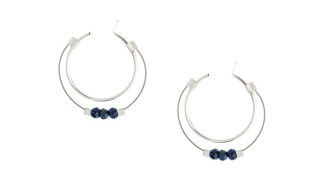 Small Stone Hoops