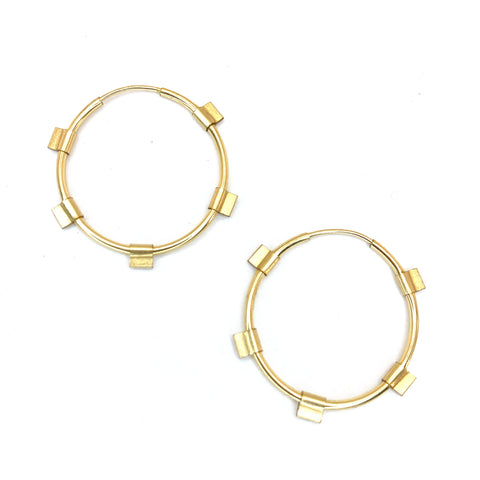 Tab Hoops- Small in All Gold