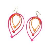 Flower Power Teardrop Earrings- Warm Tones