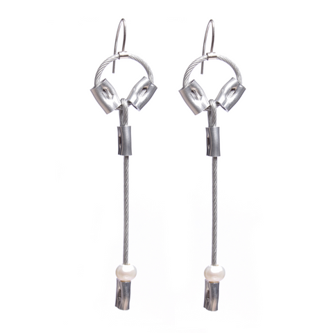 MPR Maxi Cable Collection: Pearl Exclaim Drop Earrings