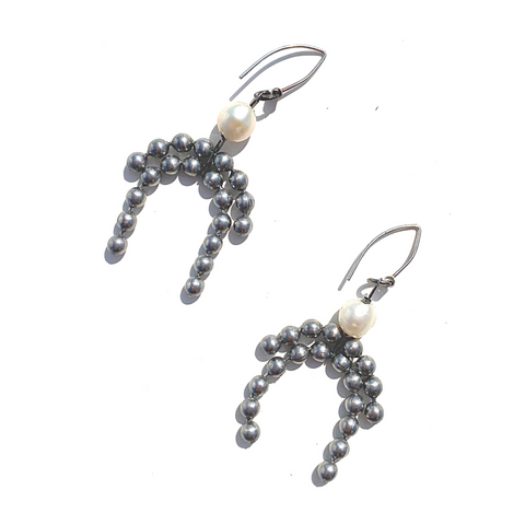 Sea Change Pearl Fringe Earrings