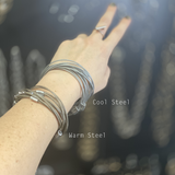 MPR Maxi Cable Collection: Mobius Cuff in Steel