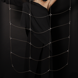 MPR Maxi Cable Collection: Gridded Cape in Steel