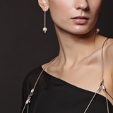 MPR Maxi Cable Collection: Pearl Line Drop Earrings