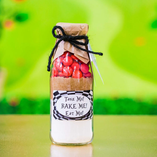 "ALICE IN WONDERLAND ""Take & Bake"" Cookie Mix Party Favours"