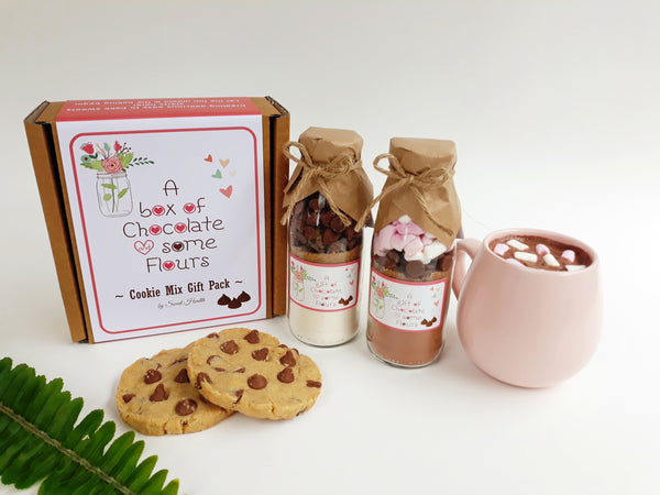 A BOX OF CHOCOLATE & SOME FLOURS Gift Pack - Contains 2 of our delicious & decadent small mixes