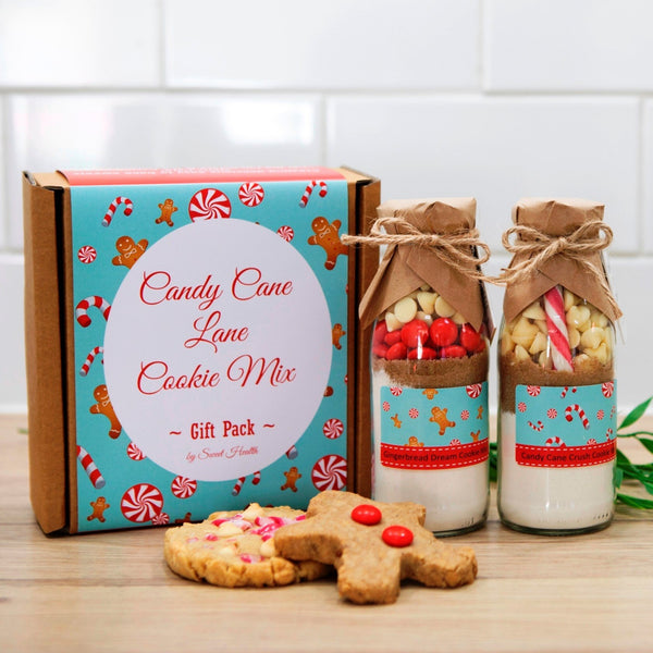 Candy Cane Lane GIFT PACK. Contains both our Candy Cane Crush & Gingerbread Dream Cookie Mixes in a bottle.