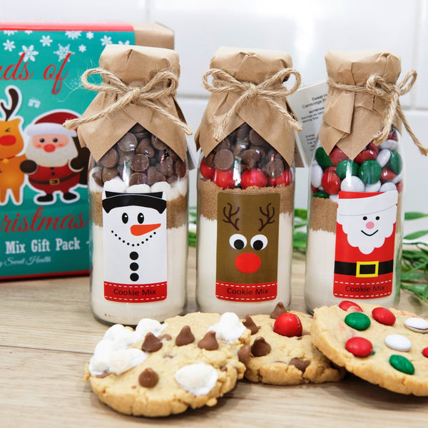 FRIENDS OF CHRISTMAS Cookie Mix Gift Pack. Contains 3 small Cookie Mixes