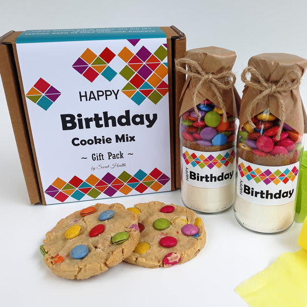HAPPY BIRTHDAY GEO Gift Pack - Contains 2 of our fun small Smartie mixes
