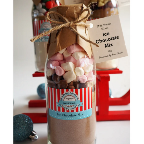 CHRISTMAS - Ice Chocolate Drink Mix. Makes 2 or 4 rich drinks