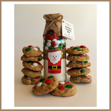 Christmas Gift Box - SANTA'S (Friends of Christmas) COOKIE MIX & TEA TOWEL SET