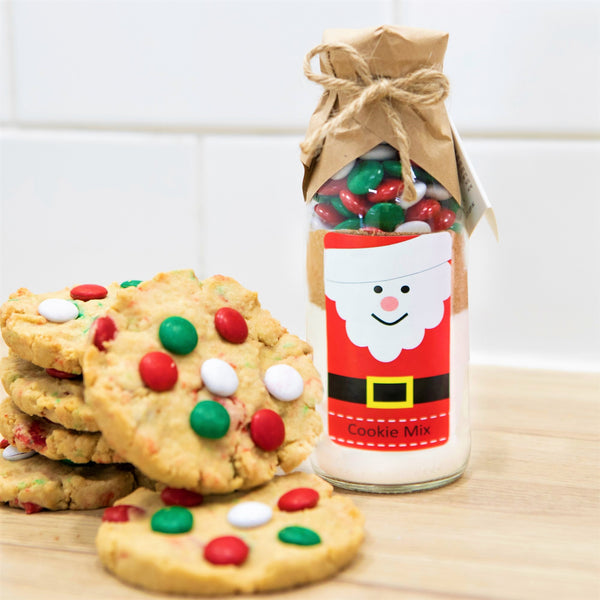 CHRISTMAS - SANTA'S (Friends of Christmas) Cookie Mix. Makes 6 or 12 delicious Christmas coloured cookies.