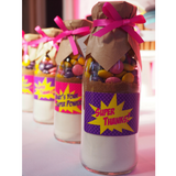 "SUPER HERO'S PINK/PURPLE Themed ""Take & Bake"" Cookie Mix Favours"