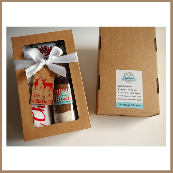Christmas Gift Box - CHRISTMAS COOKIE MIX & TEA TOWEL SET