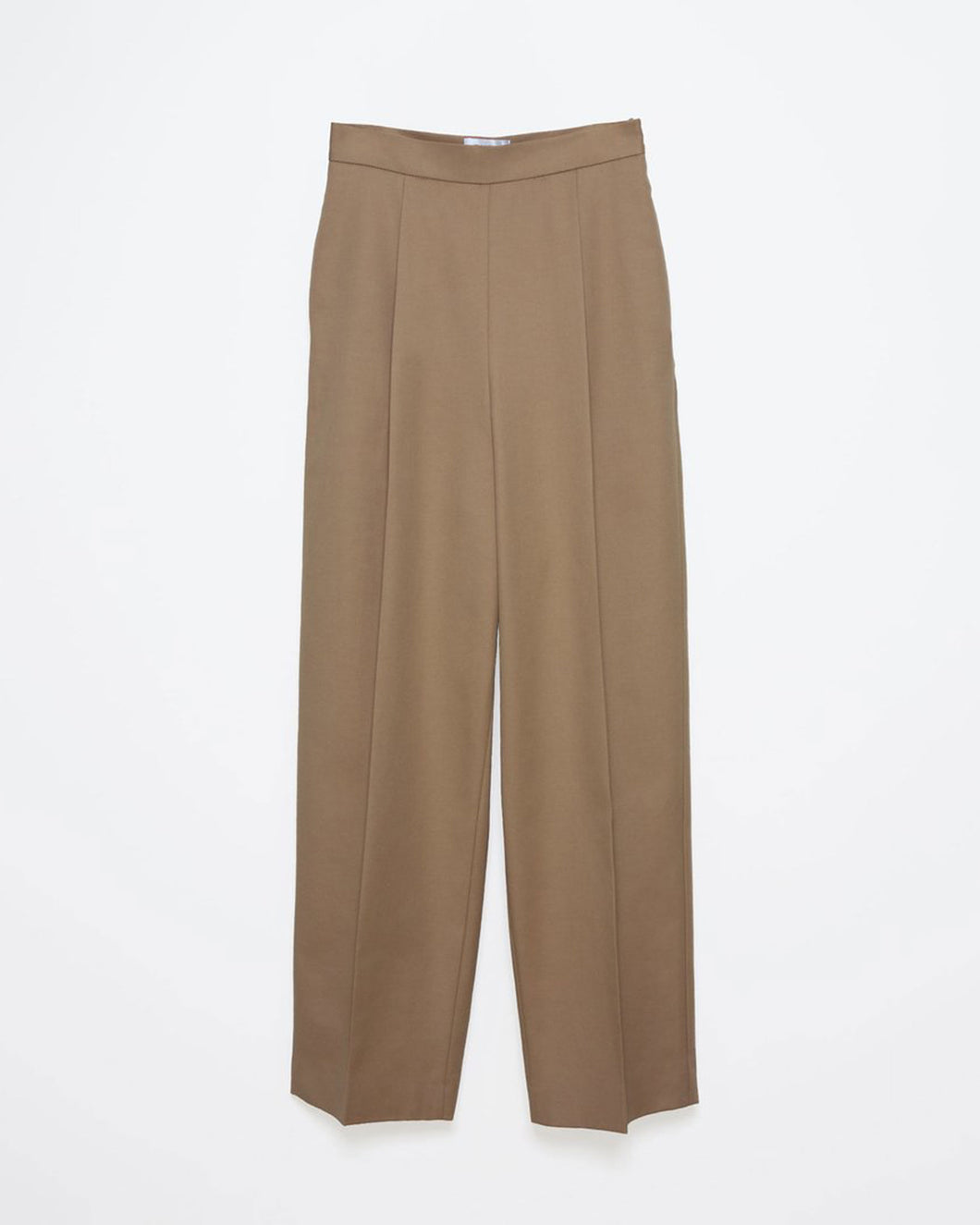 High Waist Camel Trouser