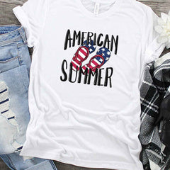 american summer flip flops png file for sublimation designs on white tee
