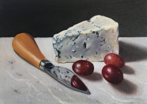 Blue cheese grapes