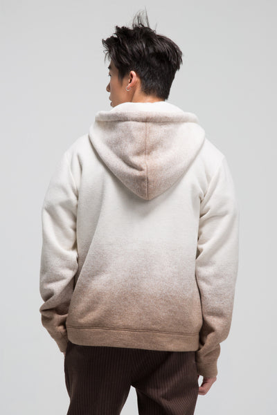 Stephane Ombre Oversized Hooded Jumper