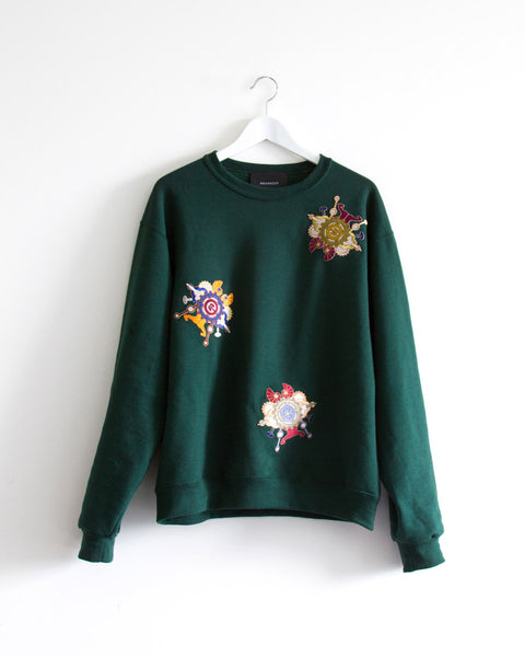 Third Wheel Moss Green Sweatshirt