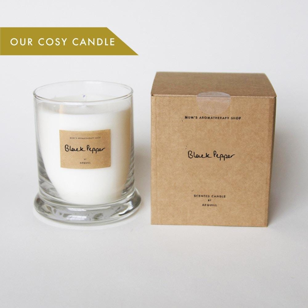 250g Cosy Candle Black Pepper Scented