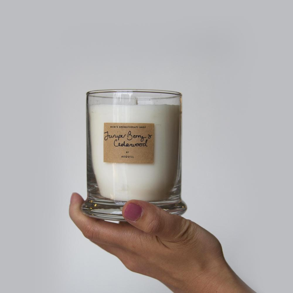 Juniper Berry, Cedarwood, Bergamot, Vetiver Essential Oil Candle