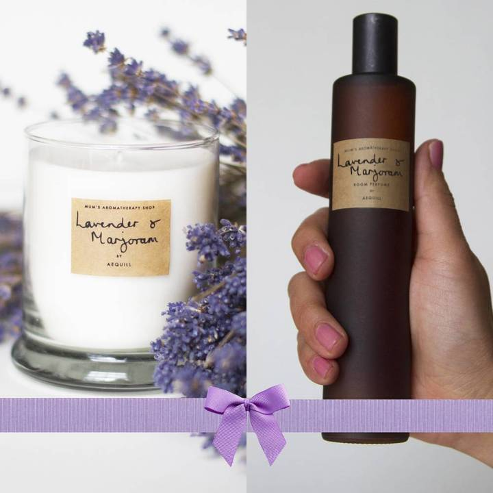 Lavender Candle And Perfume Room Spray Gift Set