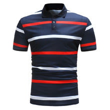 Load image into Gallery viewer, Stripe Men's Casual Fashion Polo Shirt