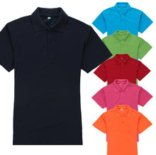 Load image into Gallery viewer, Basic cotton short sleeve polo shirt for men