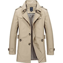 Load image into Gallery viewer, Men's Trench Coat- Section Coat Fashion Long Jacket