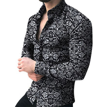 Load image into Gallery viewer, Men's Floral Long Sleeve Casual Shirt