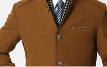 Load image into Gallery viewer, Mens Long Winter Trench Coats  Fleece-Slim Fit Double Collar Coat