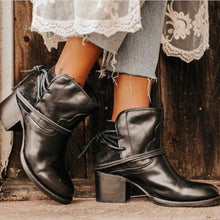 Load image into Gallery viewer, Ankle Boots For Women - Plus Size Retro High Heels