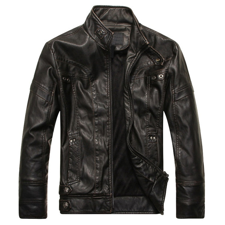 Mountain Fur Men's Casual Leather Jacket