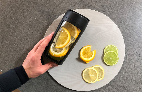 water infusion recipe to kickstart your metabolism; orange, lemon and lime