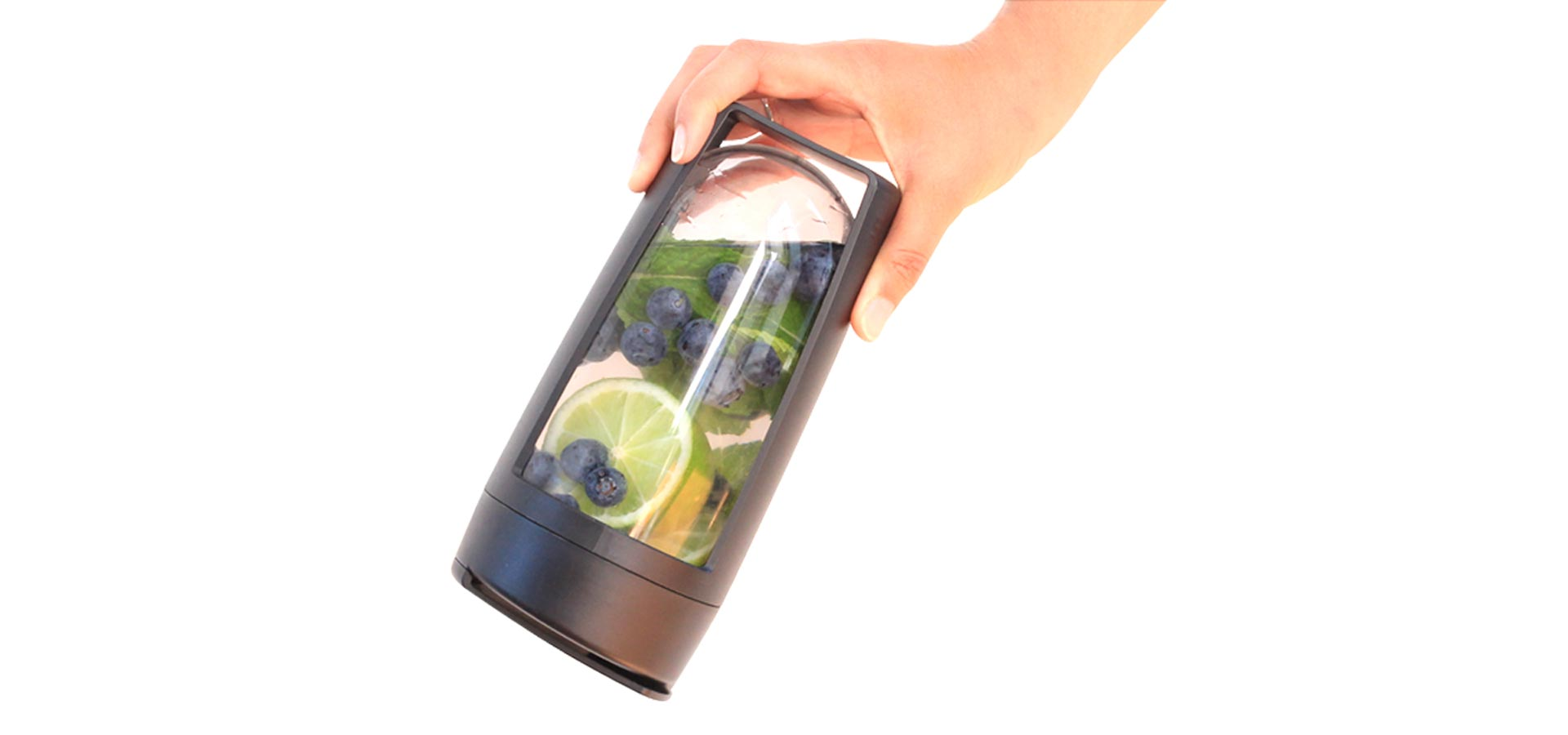 fruit infuse waters with the mous water infuser it's leak proof