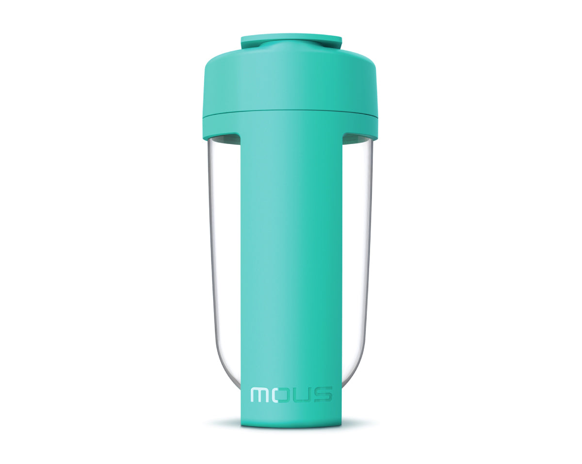 mous fitness bottle and shaker bottle teal colour
