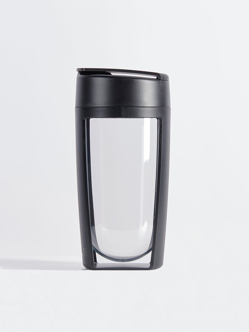 fitness bottle and supplement shaker by mous in black color