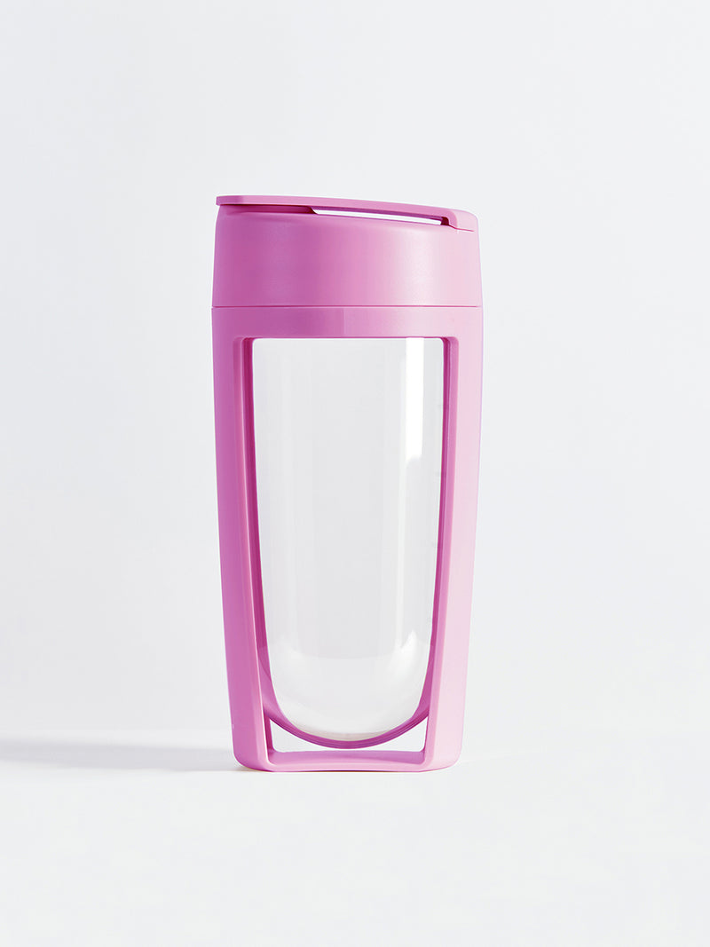 fitness bottle and supplement shaker by mous in pink color
