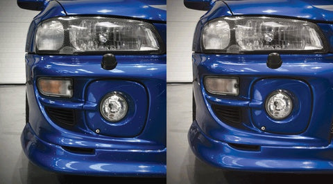 before and after blue paint repair